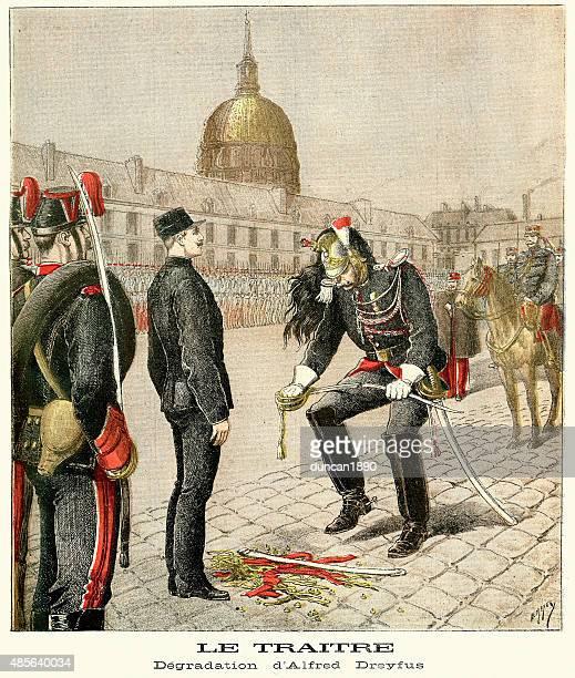 A degradação de Alfred Dreyfus. 1895