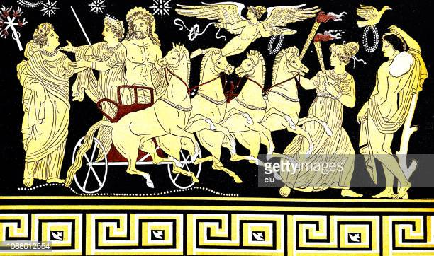 the descent of the prosperpina into the underworld at the annual change of seasons - greek gods stock illustrations, clip art, cartoons, & icons
