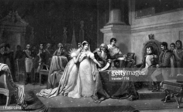 ナポレオンからのジョセフィン皇后の離婚 - 1800~1809年点のイラスト素材/クリップアート素材/マンガ素材/アイコン素材