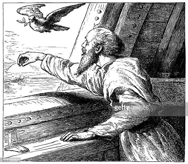 The dove returning to the ark (Victorian engraving)