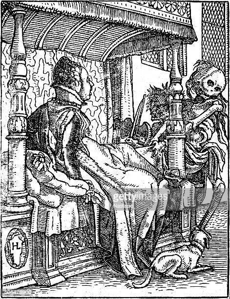 the duchess - dance of death - epidemic stock illustrations