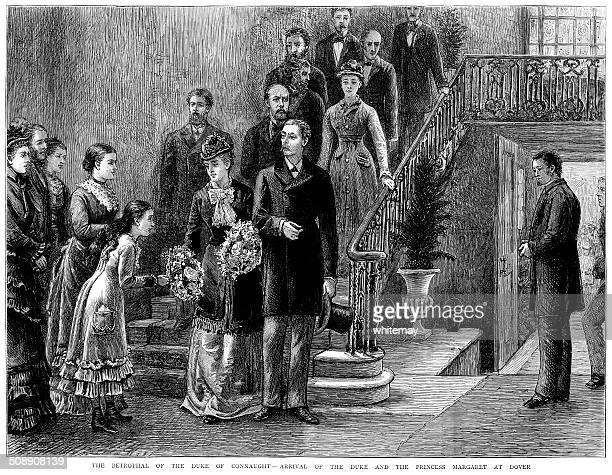 stockillustraties, clipart, cartoons en iconen met the duke of connaught's betrothal - duke