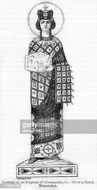 the empress of constantinople - empress stock illustrations, clip art, cartoons, & icons