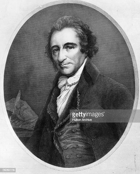 The Englishborn American revolutionary philosopher Thomas Paine who wrote and published 'The Rights of Man' in England In it he expressed his support...