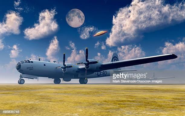 the enola gay b-29 superfortress at walker air force base. - us air force stock illustrations