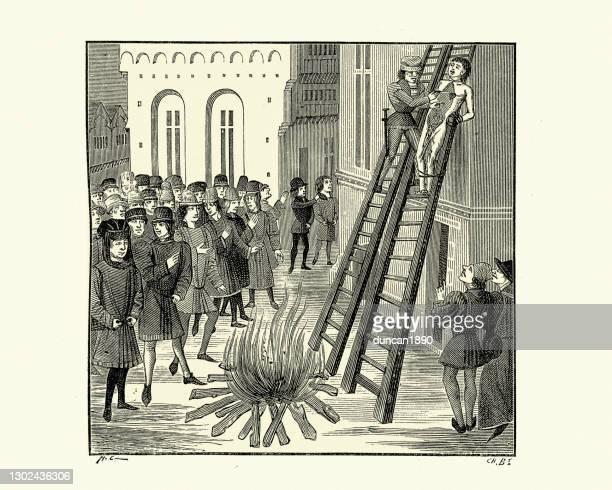 ヒュー・ル・デスペンサー・ザ・ヤングの処刑は、絞首刑に処せられ、描かれ、四分の一に、 - 処刑点のイラスト素材/クリップアート素材/マンガ素材/アイコン素材