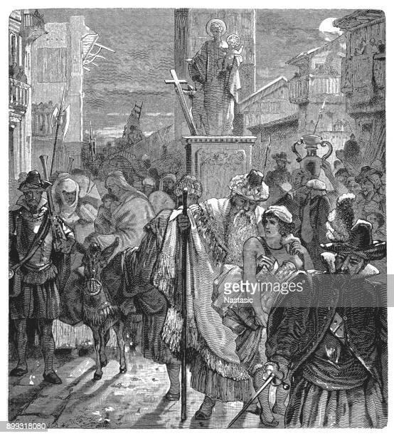 ilustraciones, imágenes clip art, dibujos animados e iconos de stock de la expulsión de los moriscos, 1598 - moruno