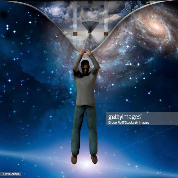 ilustraciones, imágenes clip art, dibujos animados e iconos de stock de the fabric of time revealed - galaxiaespiral