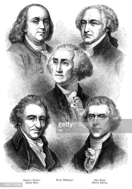 the fathers of the north american republic - thomas jefferson stock illustrations, clip art, cartoons, & icons