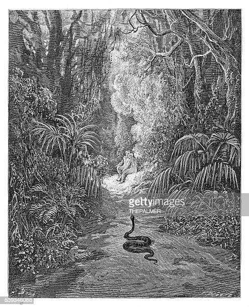 The first approach of the serpent engraving 1885