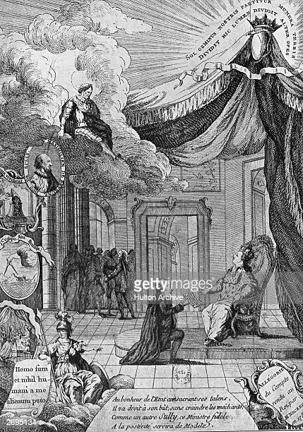 The French financier and statesman Jacques Necker handing to King Louis XVI the Compte rendu au Roi . This was a complete analysis of the nation's...