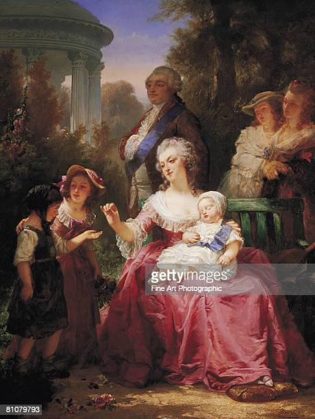 the french royal family - receiving stock illustrations