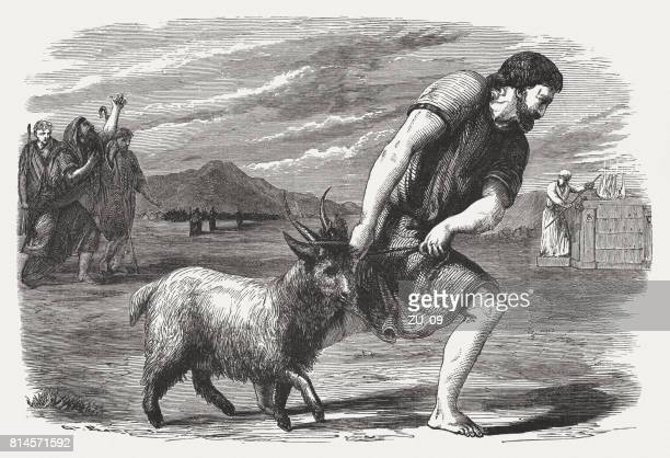 ilustraciones, imágenes clip art, dibujos animados e iconos de stock de el buck de cabra como un pecado (números 29, 5) - asumir la responsabilidad
