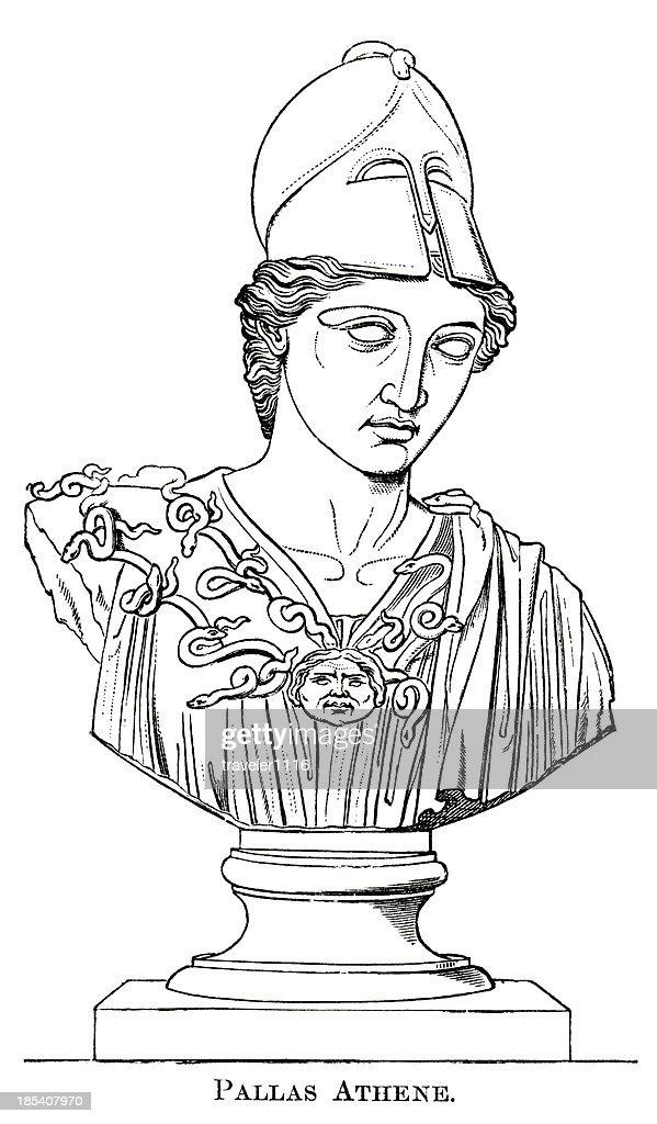 The Goddess Athena : stock illustration