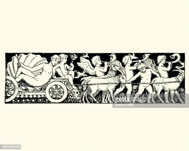 The Goddess Venus riding on a chariot
