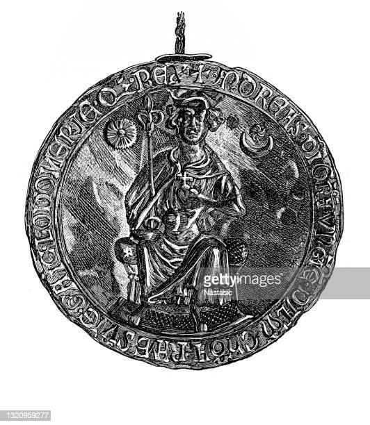the golden bull of 1222 was a golden bull, or edict, issued by andrew ii of hungary. - hungary stock illustrations