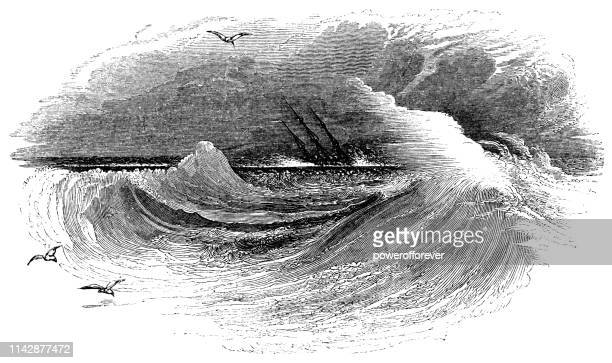 The Goodwin Sands off the Coast of Kent, England - 19th Century