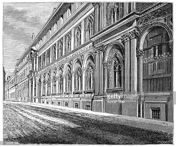 the grand hospital of milan - milan stock illustrations, clip art, cartoons, & icons