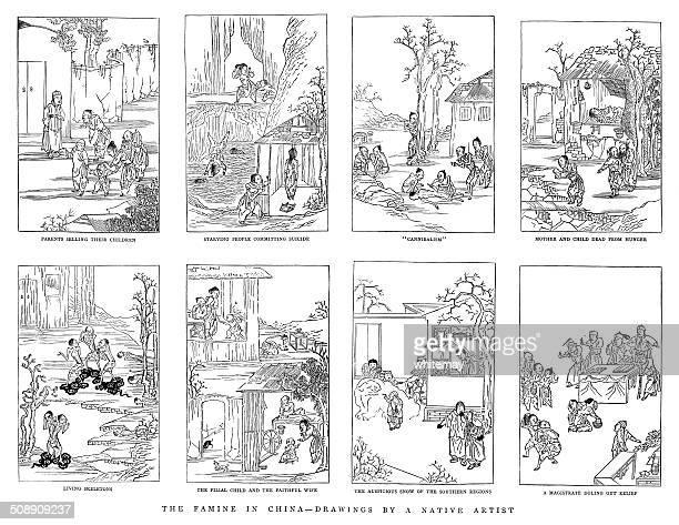 素晴らしい中国の 1876-79 飢饉