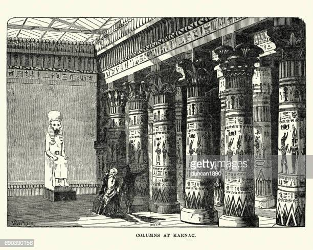 the great exhibition 1851 - columns of karnac display - great exhibition stock illustrations, clip art, cartoons, & icons