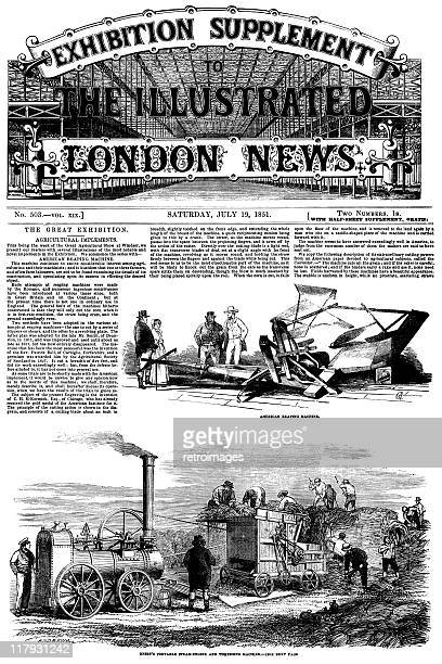 the great exhibition 1851 - illustrated london news front cover - great exhibition stock illustrations, clip art, cartoons, & icons