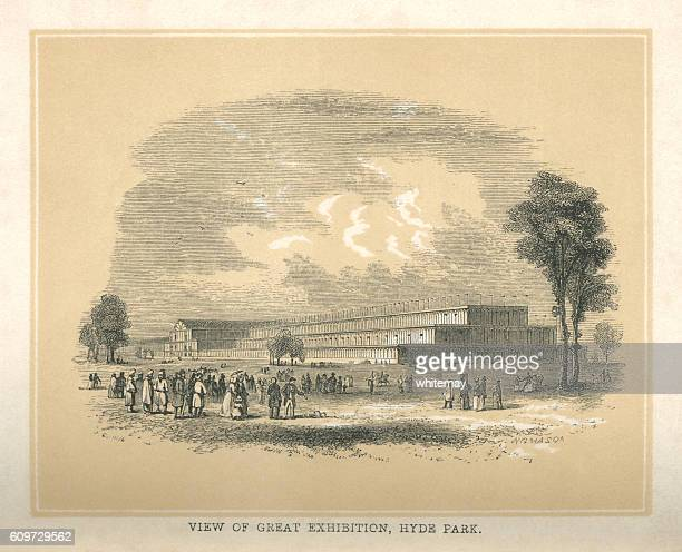 the great exhibition, hyde park - great exhibition stock illustrations, clip art, cartoons, & icons