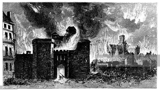 The Great Fire of London , 2 September to Wednesday, 5 September 1666