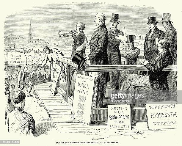 the great reform demonstration - political rally stock illustrations, clip art, cartoons, & icons