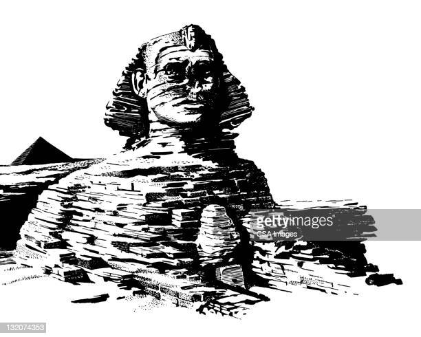 the great sphinx - the sphinx stock illustrations, clip art, cartoons, & icons
