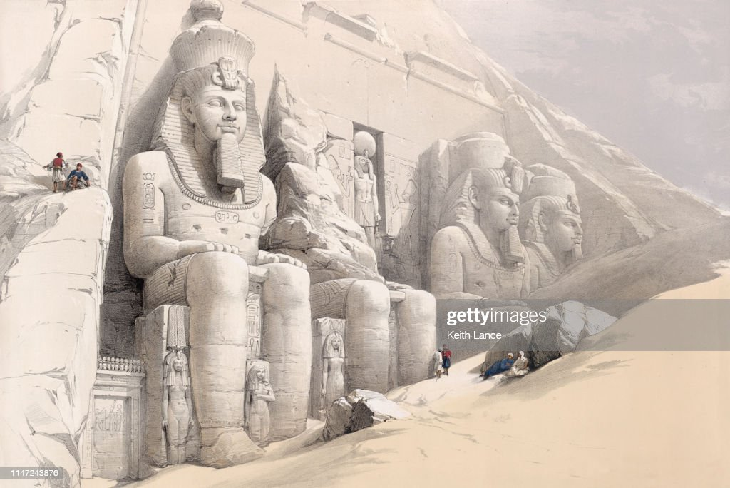 The Great Temple at Abu Simbel : stock illustration
