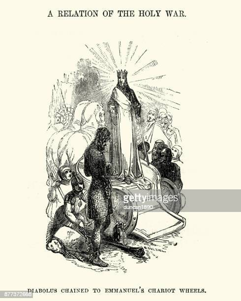 The Holy War. Diabolus chained to Emmanuel's chariot