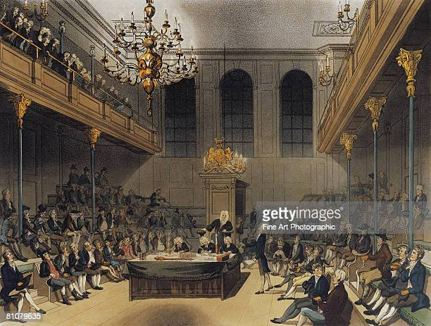 the house of commons, london, england - large group of people stock illustrations