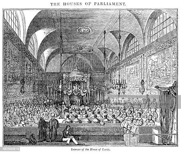illustrazioni stock, clip art, cartoni animati e icone di tendenza di la casa dei nobili interno nel 1833 - cultura britannica