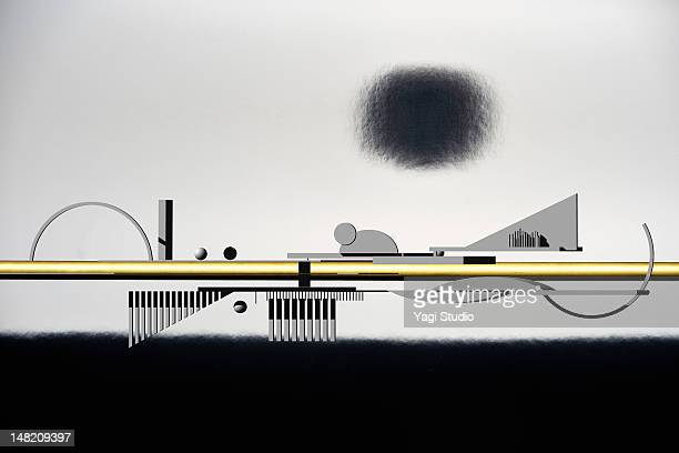 the image of the city - air pollution stock illustrations