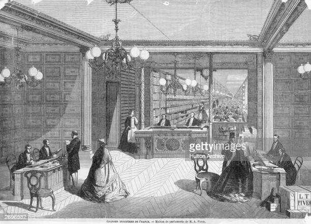 The interior of Monsieur MA Piver's 'Maison de Parfumerie'