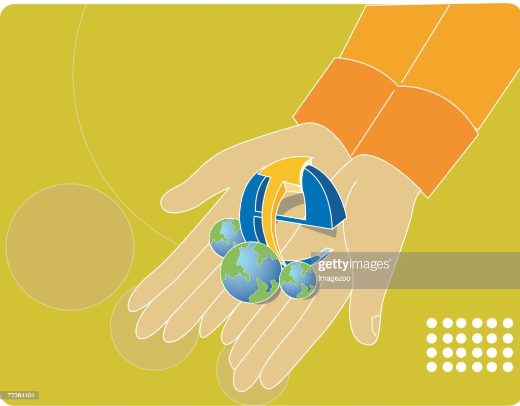 The Internet Puts World At Your Fingertips Vector Art Getty Images Diagram Of