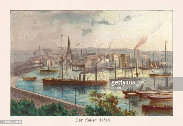 The Kiel harbor, chromolithograph, published in 1888