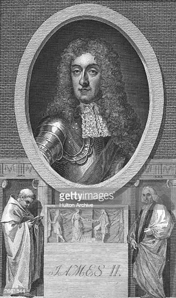 The King of England James II who was also King James VII of Scotland circa 1670