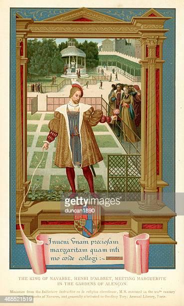 the king of navarre - henri iv of france stock illustrations