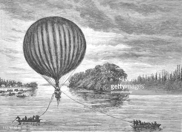 903f26a818ba0 The Landing of the Balloon Le Jean Bart after the Siege of Paris - 19th  Century