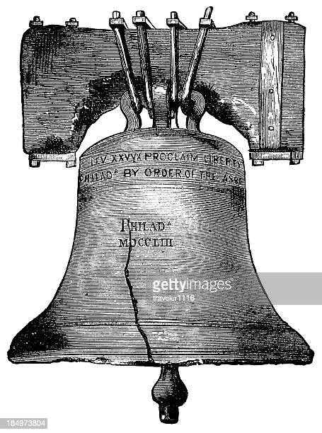 the liberty bell - liberty bell stock illustrations