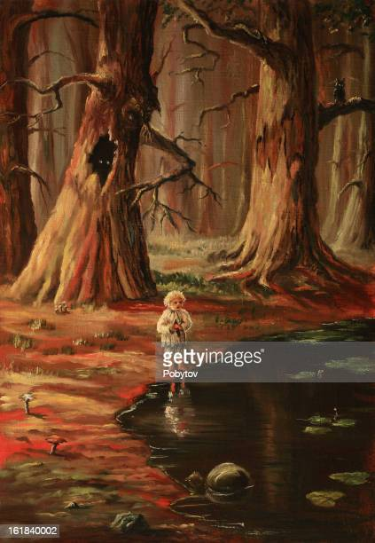 the lonely kid in a wood - ugliness stock illustrations, clip art, cartoons, & icons
