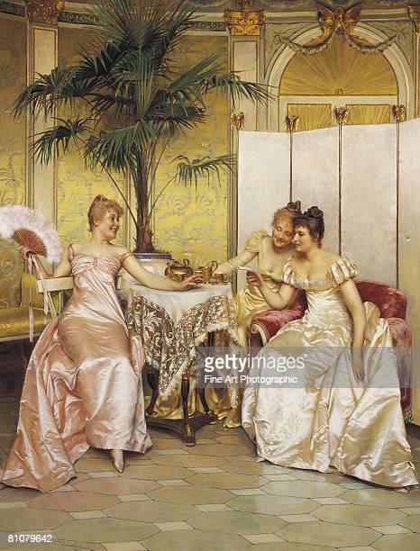 the love letter - evening gown stock illustrations