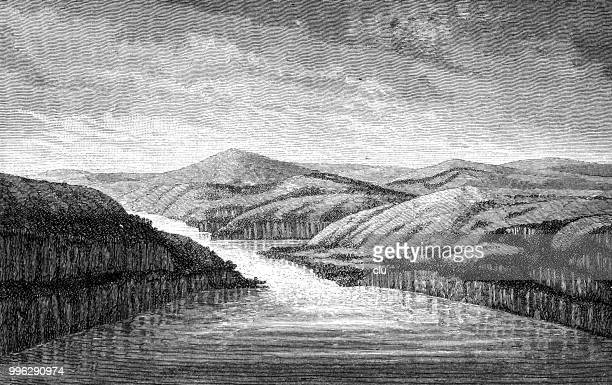 the lower congo river - low section stock illustrations