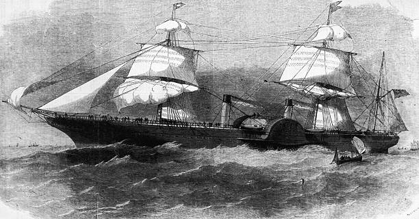 The maiden voyage of the Royal British and North American...