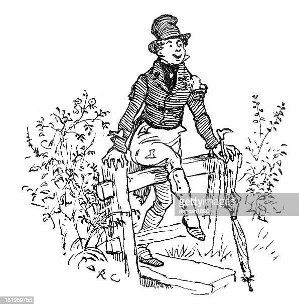 the man all tattered and torn - vagabond stock illustrations, clip art, cartoons, & icons