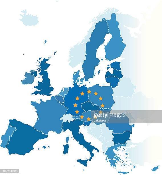 Die Karte der Europäischen Union.