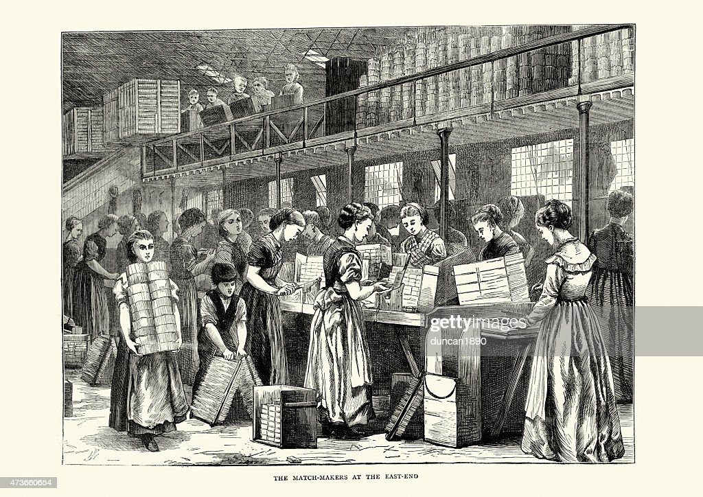The Match Makers at the East End, London, 1871 : stock illustration