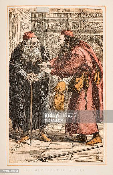 the merchant of venice by shakespeare engraving 1870 - venice italy stock illustrations, clip art, cartoons, & icons