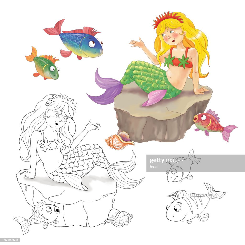 The little mermaid tale coloring pages - Hellokids.com | 1024x1024